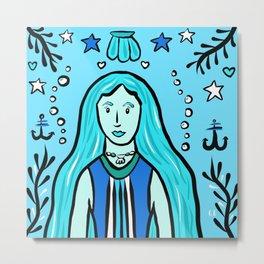 Glamazon Girl: Aquaris Metal Print