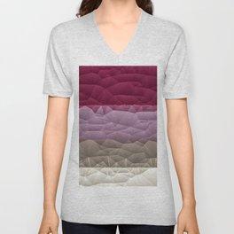 Quilted Stripe Pantone Ultra Violet Design Unisex V-Neck