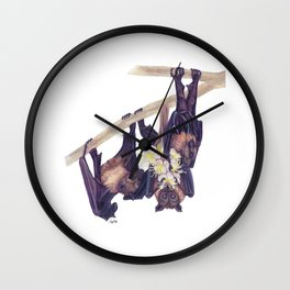 Flying Foxes Wall Clock