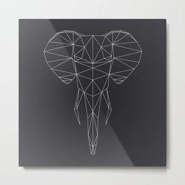 Poly-Elephant Metal Print