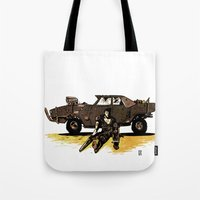 mad max Tote Bags featuring MAD MAX by Gregory Casares