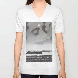Ghost Waves Unisex V-Neck