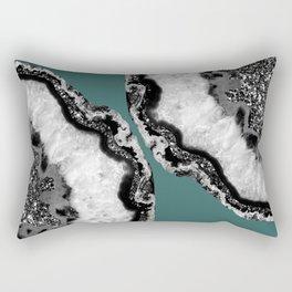 Yin Yang Agate Glitter Glam #11 #gem #decor #art #society6 Rectangular Pillow