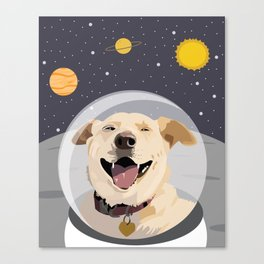 Space Pup Canvas Print