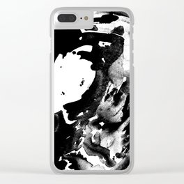 Drilling for that black gold in our oceans, black wave Clear iPhone Case