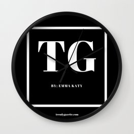 Trendy Gazette Wall Clock