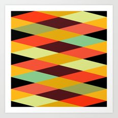 multicolor diamond pattern Art Print