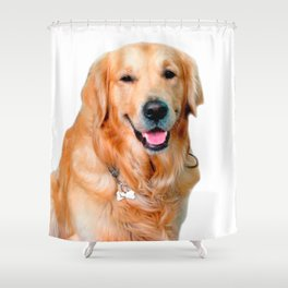 Beautiful Dog Golden Retriever and Your Bone Shower Curtain