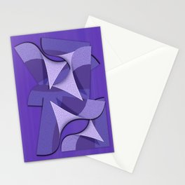 Ultra Violet Abstract Waves Stationery Cards