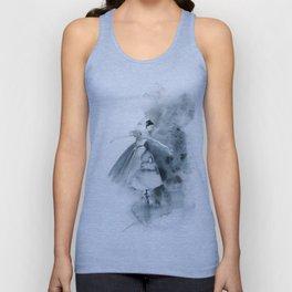 Ballerina in Blue Unisex Tank Top
