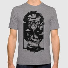 Time Heals Mens Fitted Tee Tri-Grey LARGE