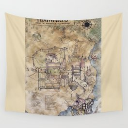 Hogwarts Map Wall Tapestry