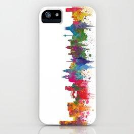 Liverpool seafront city line skyline waterfront watercolour colours colour splash by Evangelos iPhone Case