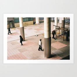 Walking through the liminal Art Print