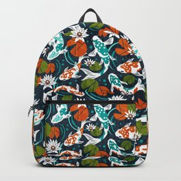 Koi Pond - Orange Backpack