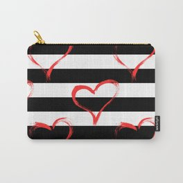 Hearts and stripes pattern Carry-All Pouch