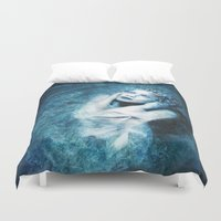 silent Duvet Covers featuring Silent Stars by Spoken in Red
