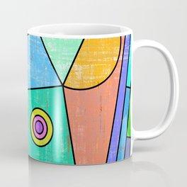 Colorful geometric abstract print, primary colors print Coffee Mug