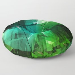 Jungle - Geometric Abstract Art Floor Pillow