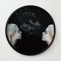 soul Wall Clocks featuring Soul by Jovana Rikalo