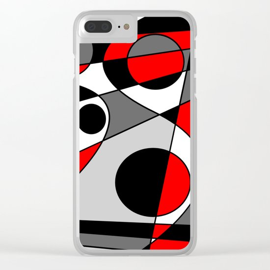 Abstract #73 Clear iPhone Case