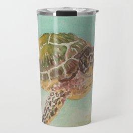 Sea Turtle Watercolor Travel Mug
