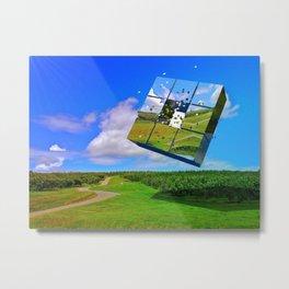 Grove Abstract Metal Print