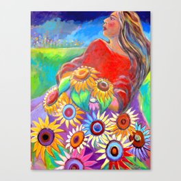 The Sunflower Thief Canvas Print