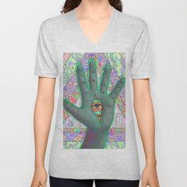 Psychedelic Hand Unisex V-Neck