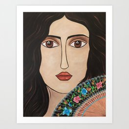 Spanish Woman Art Print
