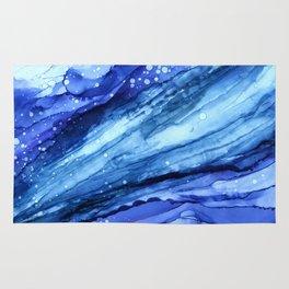 Cracked Blue Marble Rug