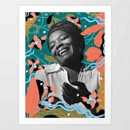 Maya Angelou for #TimesUpNow Art Print