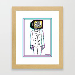 Psychedelic art - Brainwashed generation Framed Art Print