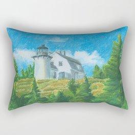 Bear Island Lighthouse Rectangular Pillow