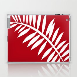 PALM LEAF RED AND WHITE PATTERN Laptop & iPad Skin
