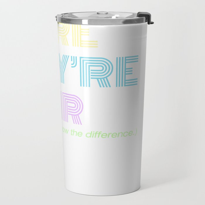There They're Their Travel Mug