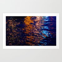 Fire on the Thames Art Print