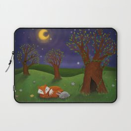 Fox And Bunny Dreaming The Night Away Laptop Sleeve