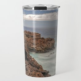 Volcanic rocks coastline Travel Mug