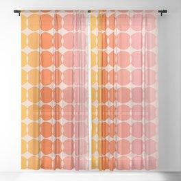 Strawberry Dots Sheer Curtain