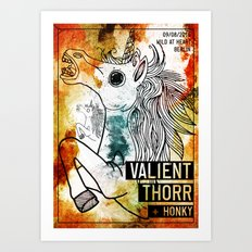 Valient Thorr and Honky live in Berlin Art Print