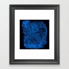 Crazy blue Framed Art Print