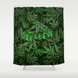 Just green - cannabis plant leaves #society6 Shower Curtain