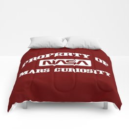 Property of NASA Mars Curiosity Rover Athletic Wear White ink Comforters