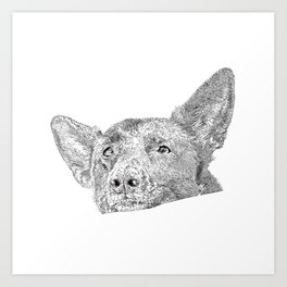 Mitzi takes it easy Art Print