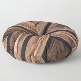 Urban Tribal Pattern No.3 - Wood Floor Pillow