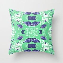 Caracola Green Throw Pillow