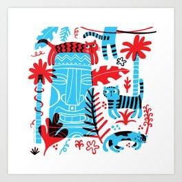 Tropicats Art Print