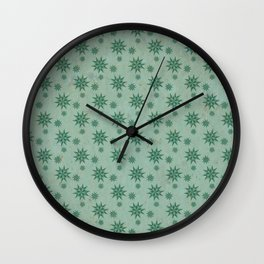 Patterns in the Ice Wall Clock