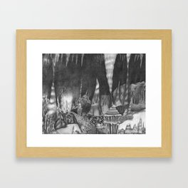 Cavernous Darkness Framed Art Print